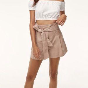 Aritzia Wilfred Marne High-Waisted Tan Shorts